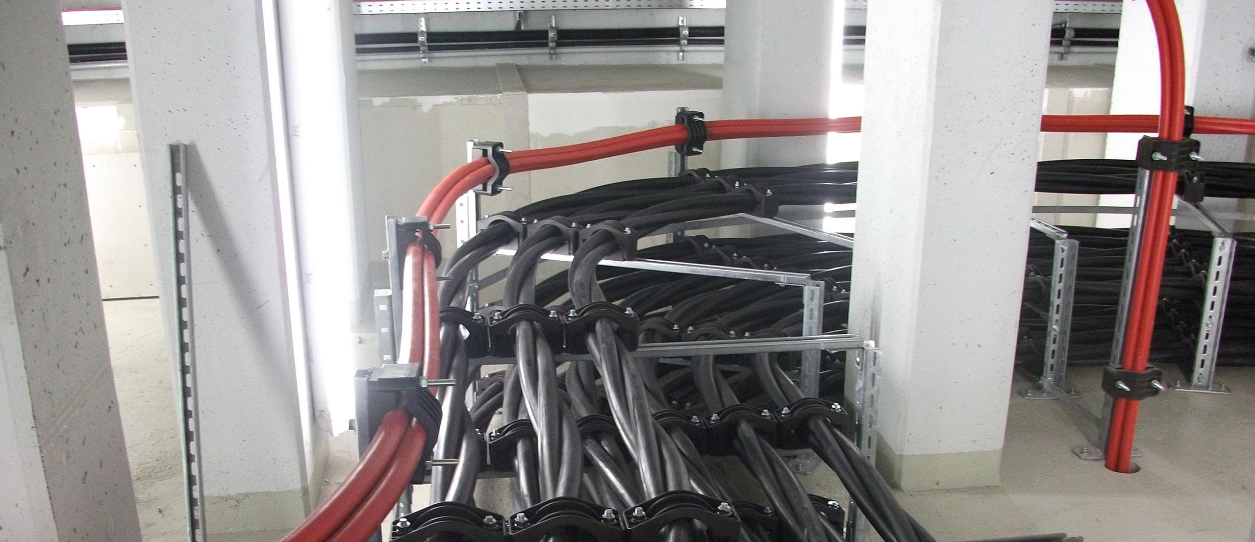 Kabelverlegung drinnen - Elmoba Kabelverlegung GmbH in Marl und Chur