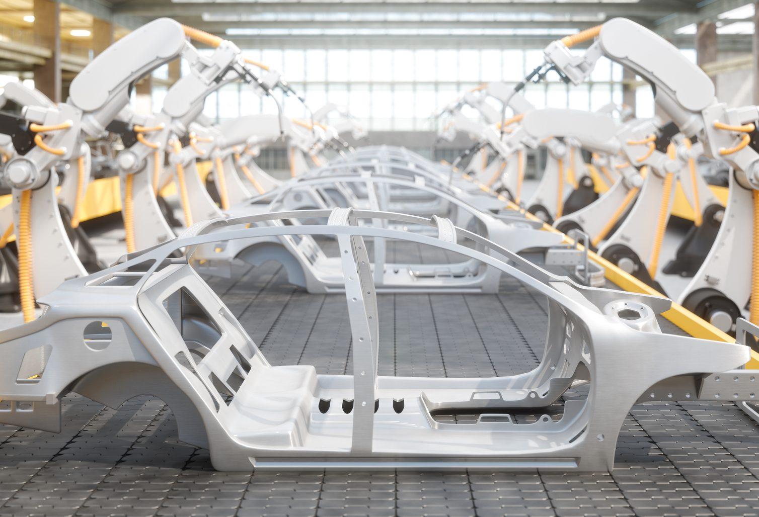 Auto Gestell in weiß - Elmoba Kabelverlegung GmbH in Marl und Chur